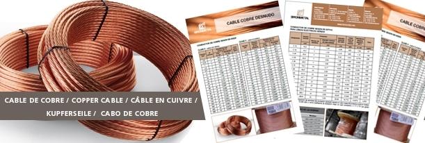 Ficha técnica Cable De Cobre