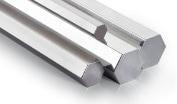 Barra de aluminio formato hexagonal