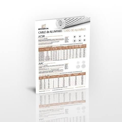 Información técnica de Cable de aluminio