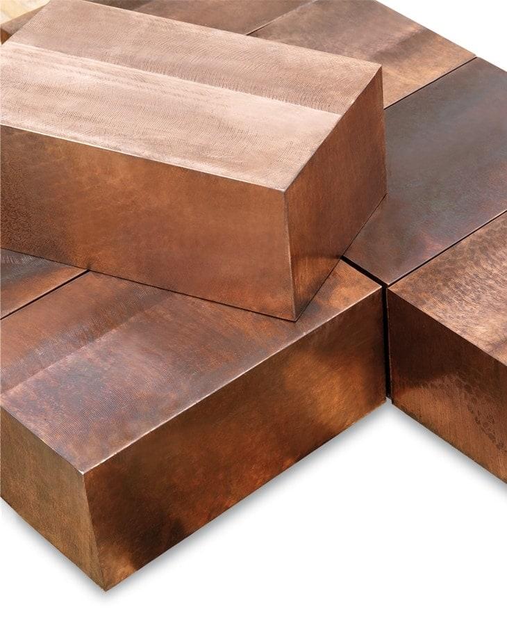 Peças forjadas de cobre