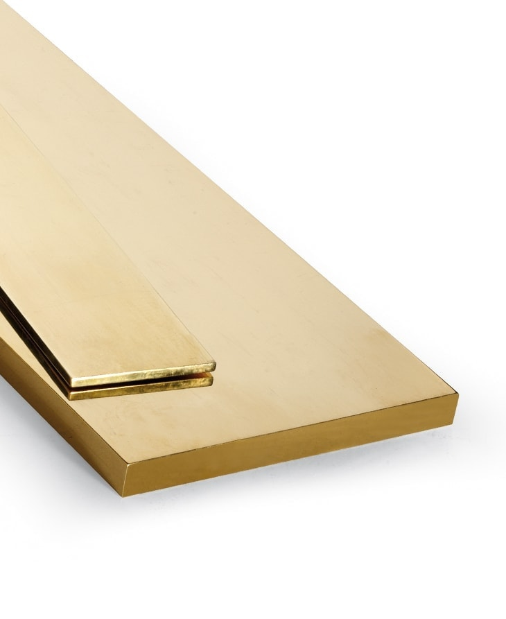 Pletina barra rectangular de latón
