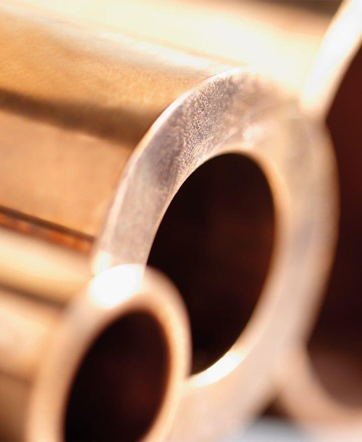 Rohre für Wärmetauscher aus Kupfer