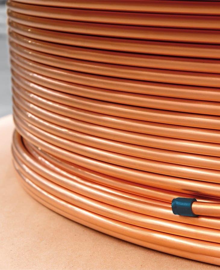 Tubo de cobre para refrigeração de equipamentos