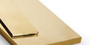 Placa/barra retangular de latão