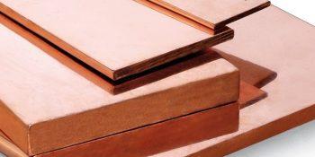 Placa de cobre/barra retangular