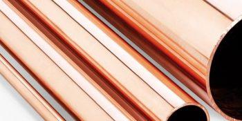 Tubo de cobre para aplicações elétricas