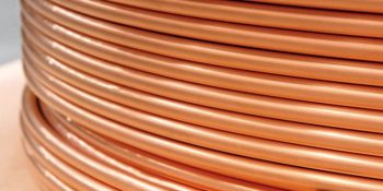 Copper cooling equipment tubes